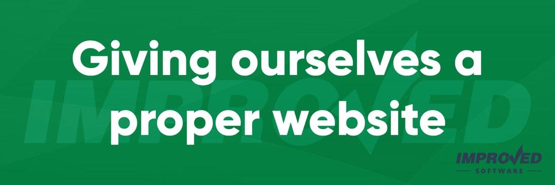 Website launch news header